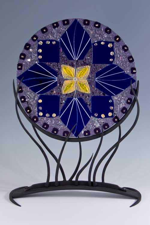 Linda Oeffling fused glass mandala